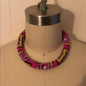 Anthropologie Beaded choker necklace
